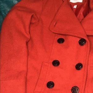 dELiA*s double breasted red pea coat Size XS